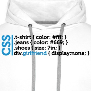 Css Clothes Girlfriend (dd)++ T-shirts - Sweat-shirt à capuche Premium pour hommes