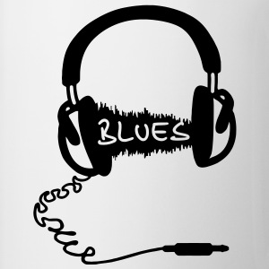 Kopfhörer Audio Wave Motiv : Blues Musik , Audiophil  T-Shirts - Tasse