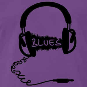 Motif de casque audio Wave: la musique blues, audiophile  Sweatshirts - T-shirt Premium Homme