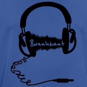 Headphones Headphones Audio Wave Motif: Breakbeat  Hoodies & Sweatshirts - Men's Breathable T-Shirt