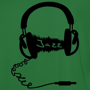 Headphones Audio Wave Motif: Jazz music Audiophile  Hoodies & Sweatshirts - Men's Football Jersey