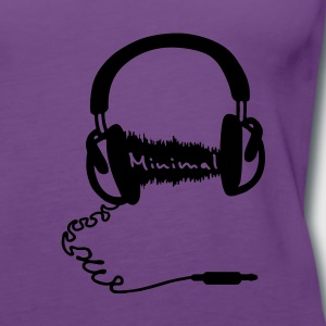 Hoofdtelefoon, audio wave minimum, Minimal, MNML Music  Sweaters - Vrouwen Premium tank top