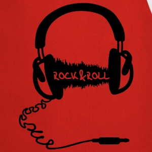 Hoofdtelefoon audio wave motief: Rock & Roll Music  T-shirts - Keukenschort