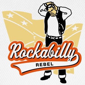 Rockabilly Rebel, T-Shirt - Baseballkappe