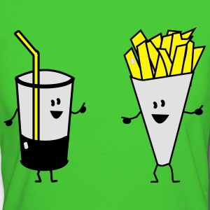french fries drink Kinder sweaters - Vrouwen Bio-T-shirt