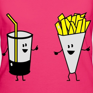 french fries drink Bags  - Women's Organic T-shirt