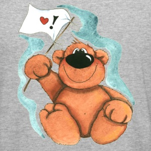 Little Bear with Flag Sweatshirts - Herre Slim Fit T-Shirt