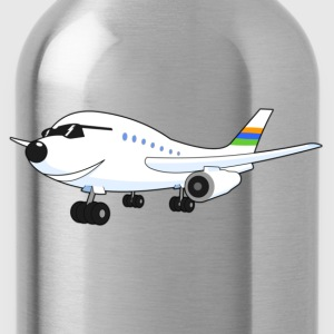 Happy Airplane - Kindershirt / hellblau - Trinkflasche
