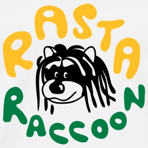 Rasta Raccoon Long sleeve shirts - Men's Premium T-Shirt
