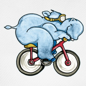 The Hippo rides a bike Kids' Shirts - Baseball Cap