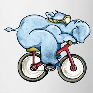 The Hippo rides a bike Kids' Shirts - Mug