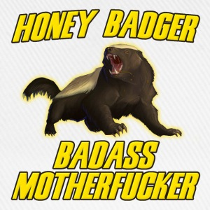 Honey Badger Badass Motherfucker Long sleeve shirts - Baseball Cap