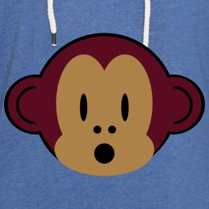 little monkey bib - Light Unisex Sweatshirt Hoodie