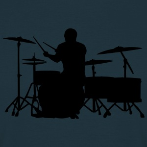 Glatze Drummer on Greater Set Pullover - Männer T-Shirt