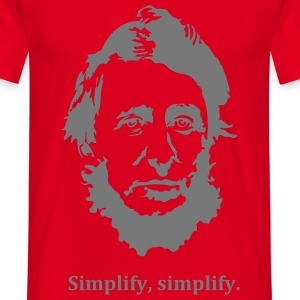 Thoreau: Simplify, simplify. Coats & Jackets - Men's T-Shirt