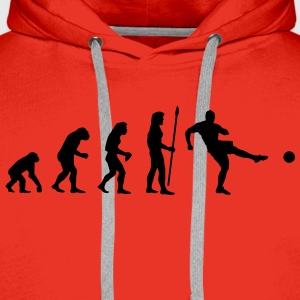 evolution_soccer1 T-Shirts - Men's Premium Hoodie