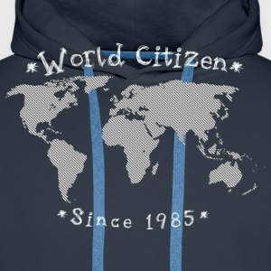 World Citizen - Sweat-shirt à capuche Premium pour hommes