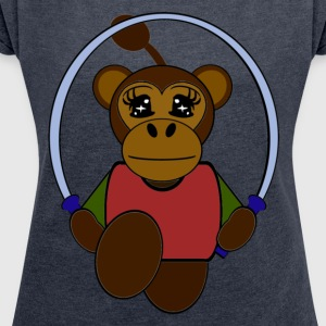 singe Hoodies & Sweatshirts - Women's T-shirt with rolled up sleeves