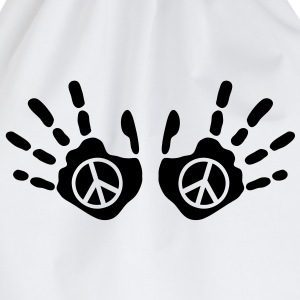 peace_handprints_1c Camisetas - Mochila saco