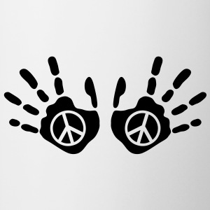 peace_handprints_1c T-shirts - Mugg