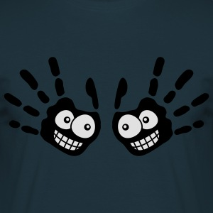 face_handprints_2c Pullover - Männer T-Shirt
