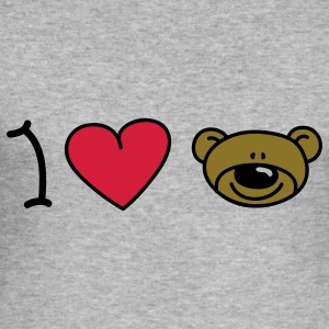 I love bears Sweatshirts - Herre Slim Fit T-Shirt