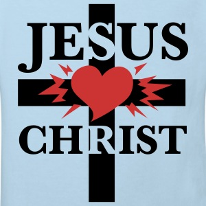 Jesus Christ  Cross Heart Jesus Christus Baby Body - Kinder Bio-T-Shirt