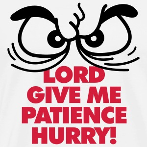 Lord Give Patience 1 (2c)++  Aprons - Men's Premium T-Shirt