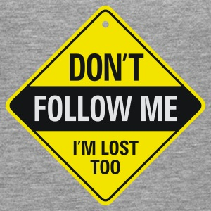 Dont Follow Me 1 (3c)++ Gensere - Premium langermet T-skjorte for menn
