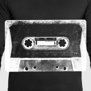 black and white tape cassette image tee shirt - Men's Sweatshirt by Stanley & Stella
