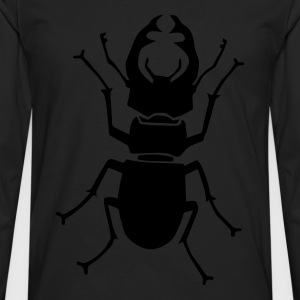 shirt stag beetle antler antlers horn horns insect - Men's Premium Longsleeve Shirt