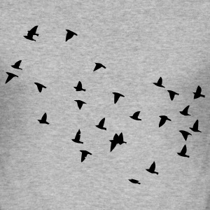 Flock of birds Pullover - Männer Slim Fit T-Shirt