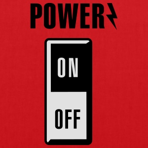 Power on/off Kinder shirts - Tas van stof