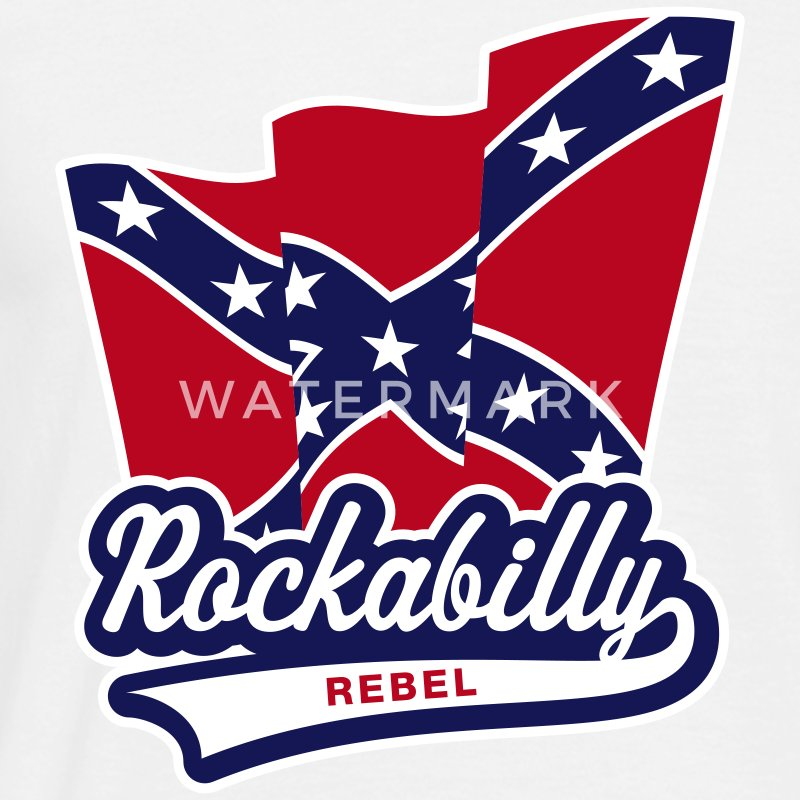 Rockabilly Rebel Flag, T-Shirt - Men's T-Shirt