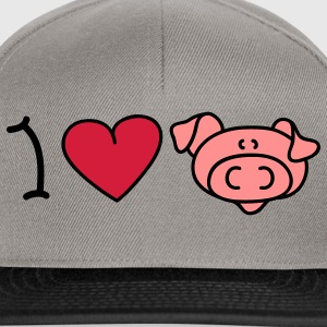 I love pigs Sweaters - Snapback cap
