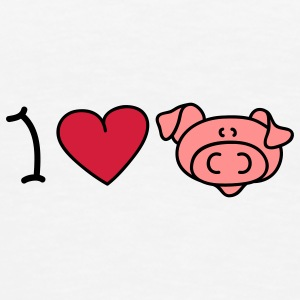 I love pigs Ondergoed - Mannen Premium T-shirt