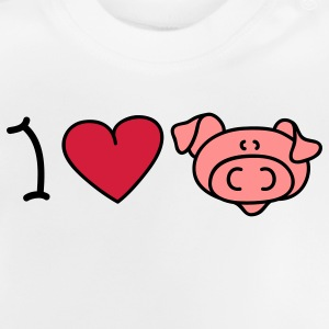 I love pigs Børne sweatshirts - Baby T-shirt