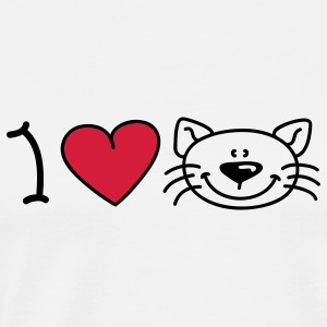 I love cats Babybody - Premium-T-shirt herr