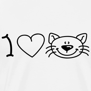 I love cats Tabliers - T-shirt Premium Homme