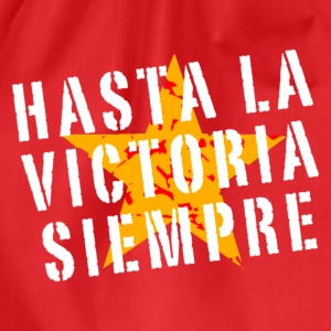 Hasta la victoria siempre (retro, red) - Drawstring Bag