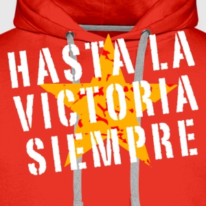 Hasta la victoria siempre (retro, red) - Men's Premium Hoodie