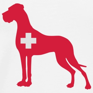 Helvetia Great Dane Buttons / Anstecker - Männer Premium T-Shirt