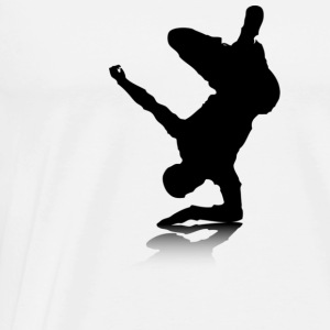 Breakdancer (on elbow) - Men's Premium T-Shirt