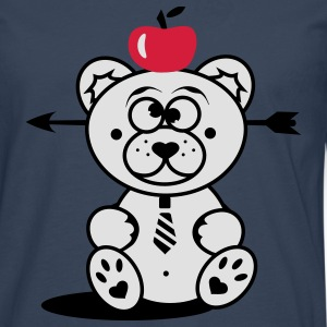 Bear with apple on his head and arrow through his head Kids' Shirts - Men's Premium Longsleeve Shirt