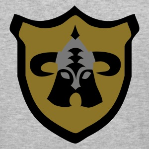 Grijs gespikkeld Viking fantasy warrior  shield Sweaters - slim fit T-shirt