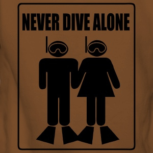 Never Dive Alone T-Shirts - Women's Premium Hoodie