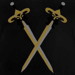 Black Viking fantasy swords Kids' Shirts - Baby T-Shirt