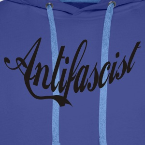 0046 Antifascist Shirt Antifaschist - Männer Premium Hoodie