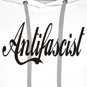 0044 Antifascist Shirt Antifaschist - Männer Premium Hoodie