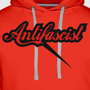 0043 Antifascist Shirt Antifaschist - Männer Premium Hoodie